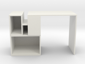 Modern Miniature Sideboard 1:12 in White Natural Versatile Plastic: 1:12
