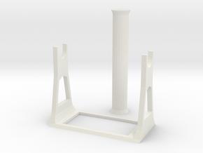 Standalone 2KG 3D Printer Filament Spool Holder in White Natural Versatile Plastic