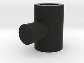 5mm T connector in Black Natural Versatile Plastic