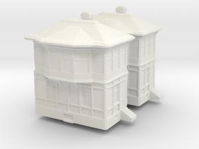 Railway Signal Tower (x2) 1/400 in White Natural Versatile Plastic