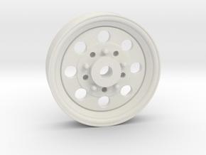 Front Drag Wheel for AMC Gremlin in White Natural Versatile Plastic