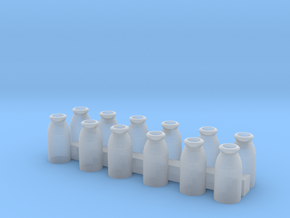 S Scale Milk Cans in Smooth Fine Detail Plastic