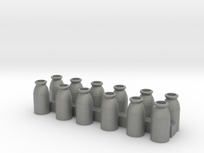 S Scale Milk Cans in Gray PA12