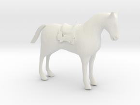 O Scale Saddle Horse in White Natural Versatile Plastic