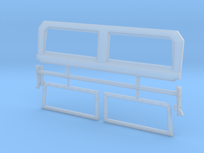 M1165 Army GMV windshield in Smooth Fine Detail Plastic