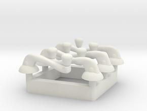 Window Crank - Multiples in White Natural Versatile Plastic