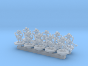 Deathbot Warrior Squad in Smooth Fine Detail Plastic: Small