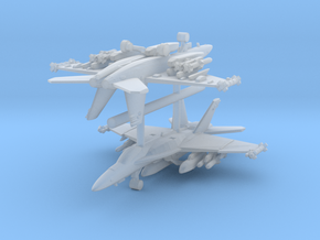 Boeing F/A-18E Super Hornet 2-Rack in Smooth Fine Detail Plastic
