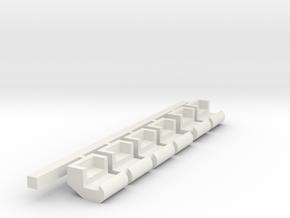 Little Scrambler Seats Set in White Natural Versatile Plastic