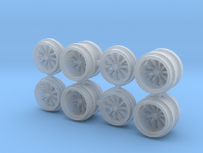 Inferno GL-D Greenlight Dually Driver Wheels in Smoothest Fine Detail Plastic