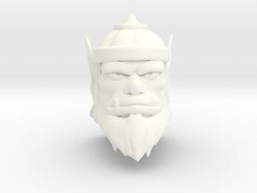 King Ahgo Head in White Processed Versatile Plastic
