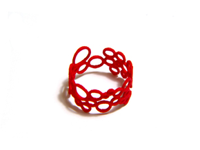 Soap-Opera Ring in Red Processed Versatile Plastic: 8.5 / 58