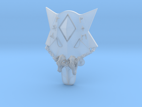 Wolf shaped Storm Shield with chain in Smooth Fine Detail Plastic