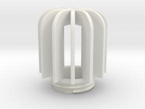 TeaC   Fins (12) *Lg in White Natural Versatile Plastic