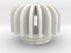 TeaC   Fins (18) *Sm in White Natural Versatile Plastic