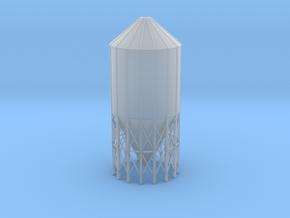 'N Scale' - 60 Deg.-24' dia. x 55' Grain Bin in Smooth Fine Detail Plastic