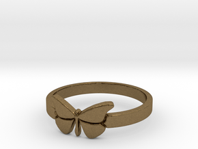 Butterfly (small) Ring Size 9 in Natural Bronze