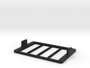 Multi-slide Holder Tray for Microscopy no clamps in Black Natural Versatile Plastic