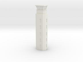 Airport ATC Tower 1/100 in White Natural Versatile Plastic