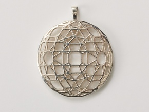 Flatter the earth in Polished Silver