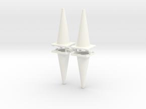 traffic cones 1/24 x4 in White Processed Versatile Plastic