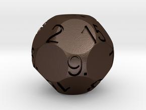 D17 Sphere Dice in Matte Bronze Steel