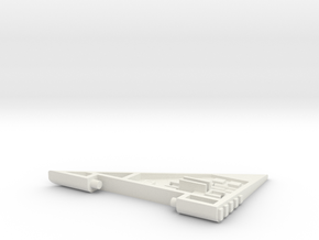 Starcom - Starhawk - left wing in White Natural Versatile Plastic