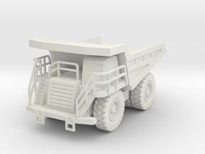 CAT 777F Dump Truck 1/72 in White Natural Versatile Plastic