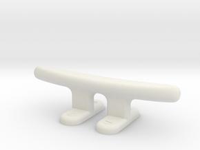 Elco Deck Cleat in White Natural Versatile Plastic