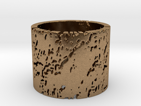 Erosion Ring Size 12 in Natural Brass
