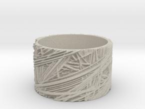 Fibres Ring Size 7 in Natural Sandstone