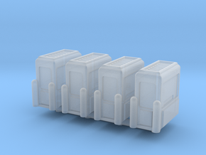Toll Booth (x4) 1/160 in Smooth Fine Detail Plastic