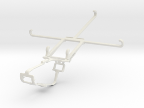 Controller mount for Xbox One & Samsung Galaxy Z F in White Natural Versatile Plastic