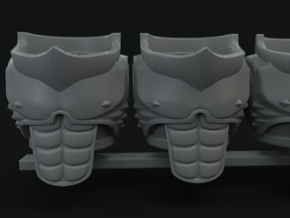 5-10x Muscle Torso for Space Knights in Smooth Fine Detail Plastic: Small