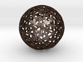 PentaHex Sphere in Matte Bronze Steel
