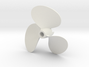 PT propeller 35th scale in White Natural Versatile Plastic