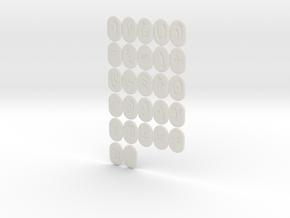 Empire Larp Rune Set in White Natural Versatile Plastic