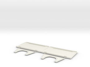 Rear Seats AS350_complete in White Natural Versatile Plastic
