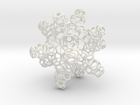 3D Snowflake in White Strong & Flexible