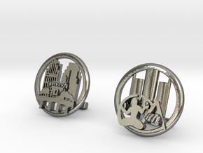 Detroit Cufflinks in Polished Silver