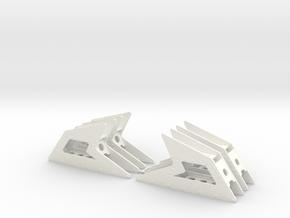 Gearplates AS350 B3 2-sets in White Processed Versatile Plastic