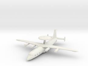 1/200 Shaanxi KJ-500 Early Warning Aircraft in White Natural Versatile Plastic
