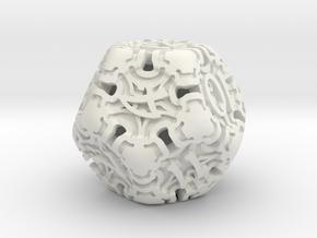 Art Nouveau d12 in White Natural Versatile Plastic