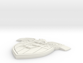 shield 2099 badge in White Natural Versatile Plastic