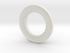 SMT10 Bead Lock Ring in White Natural Versatile Plastic: 1:10