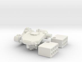 1:144 Tekkadan Missile Mobile Worker Gundam: IBO in White Natural Versatile Plastic