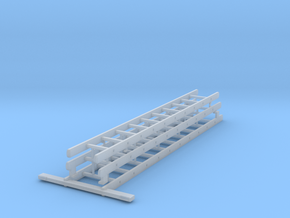 Schiebeleiter 3-Teilig (Satz) in Smooth Fine Detail Plastic: 1:32
