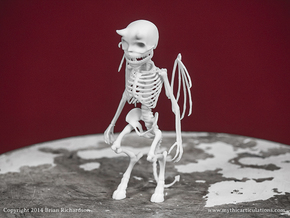Imp Skeleton in White Natural Versatile Plastic