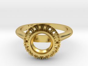 round halo 6mm in Polished Brass
