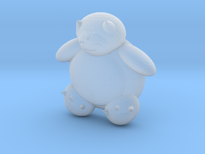 Snorlax (color) in Smooth Fine Detail Plastic